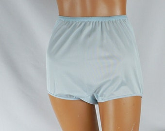 Vintage Panties Pale Blue Nylon by JAX Sz L Nos