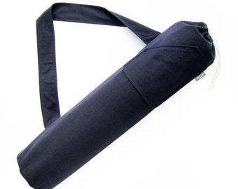 Yoga Gym Bag. Gift for Yogi. Black Yoga Mat Bag. Gifts for Him. Mens Yoga Mat Tote. Yoga Mat Carrier. effie Yoga Bag. Gifts Under 50
