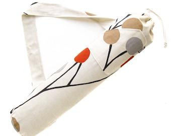 Yoga Mat Bag. Yogi Gifts. Orange Grey Pods Yoga Bag. Yoga Mat Bag with Strap and Pocket. Yoga Accessories. Yoga Fashion. Yoga Mat Carrier