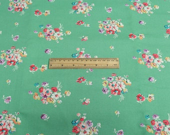 4260 - Cath Kidston Mallory Bunch (Aqua) Cotton Canvas Fabric - 57 Inch (Width) x 1/2 Yard (Length)
