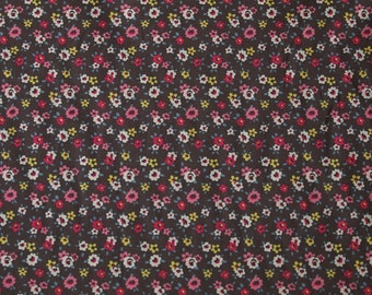 4089 - Cath Kidston Tiny Rose (Charcoal) Cotton Canvas Fabric - 57 Inch (Width) x 1/2 Yard (Length)