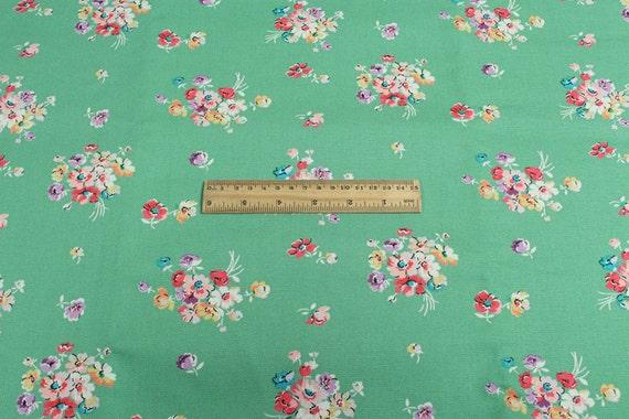 4260 cath kidston mallory bunch aqua cotton canvas fabric for Mallory material