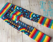 Maxaloones, rainbowphant by Lillestoff cloth diaper pants, grow with me pants, babywearing pants