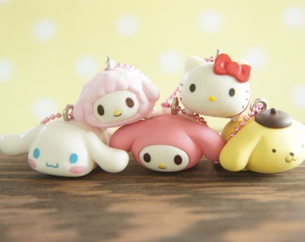 5 pc Sanrio All Stars charm (Complete Set ) AZ338
