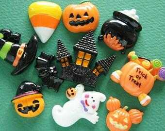 11 pcs Halloween Cabochon Set DR524