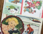 A Puppy for Christmas Vintage Dog Collage, Scrapbook and Planner Kit Number 1962