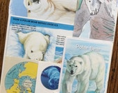 P is for Polar Bear Vintage Wild Animal Arctic Collage, Scrapbook and Planner Kit Number 1964