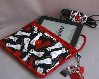 Fabric E-Reader Cover for Nooks, Kindles, and Small Tablets-Nook IS NOT included!