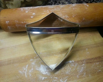 Shield Cookie Cutter With Custom Handle By West Tinworks