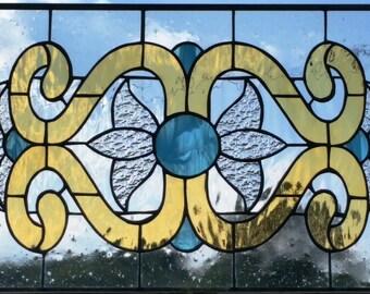 "Stained Glass Window / ""Victorian Flowers II"" (W-87)"
