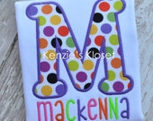 Personalized Name Frame Applique Shirt - Personalized Name Shirts - Girls Toddler - Baby - 12 mo 18 mo 2t 3t 4t 5t 6 8