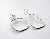 Apple and Pear Hoop Earrings, Sterling Silver Hoop earrings, Fruity Hoops, Handmade in Brighton, UK