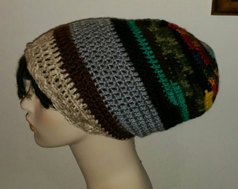 One of a Kind Slouchy Beanie Dread Tam Crochet Hat