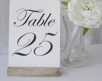 Table Card Holder + White Distressed Card Holder