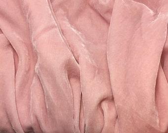 BABY PINK Silk Velvet Fabric - 1 Yard