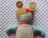 Melody Large Handmade Fabric Baby Doll