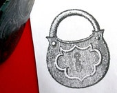 Padlock Lock Rubber Stamp  - Handmade by Blossom Stamps