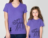 Mother Daughter Matching T-shirts My Star Wars AT-AT Pet, mommy and me shirt set, mother's day, mother and child, gift for mom, Star Wars