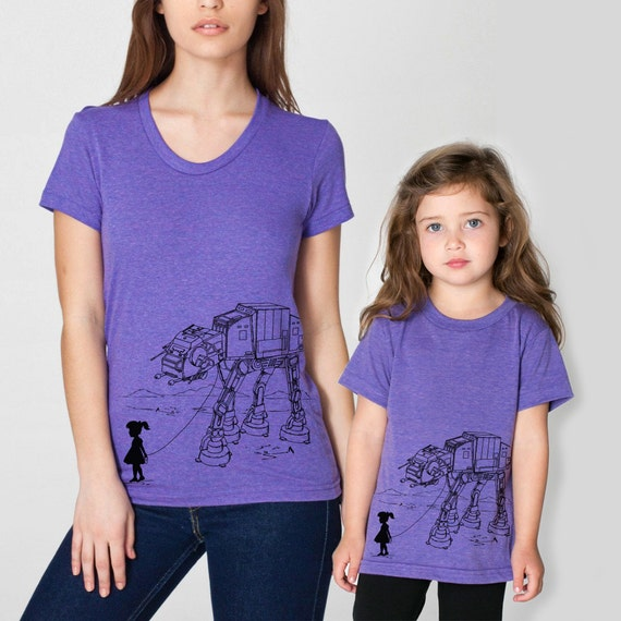 Mommy and me tshirt, mother daughter matching set, gift for daughter, mom gift, Mother's day gift, star wars graphic tee set, family shirts