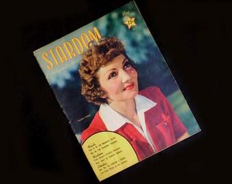 Vintage 40s Stardom Magazine Claudette Colbert May 1942