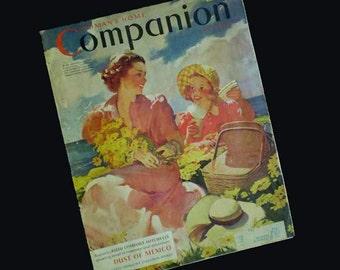 Vintage 40s Woman's Home Companion Magazine June 1940