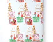 Gift Wrapping Holiday Gift Wrap Chinoiserie Christmas Gift Wrap Holiday Interior Bamboo Chair Mid Century Modern Pastel Colors
