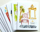 Sketchbook Interiors Chinoiserie Note Cards Set