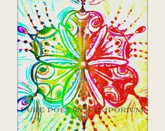 Abstract Flower Design Enhanced Art Photography Digital Image Download