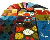 """Fat Quarter Bundle """"Silver Lining"""" 4 designs combination by Hoodie Crescent"""