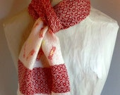 Handwoven Scarf on Hand Painted Warp by Frederick Avenue