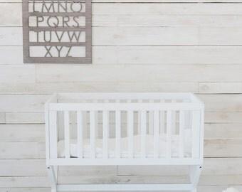 Grey Elm Modern Nursery Alphabet Wall Art