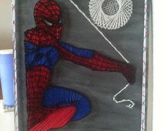 Spiderman Marvel Comics Avengers String Art Wall Hanging
