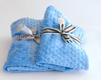 Baby Boy Blanket Blue Minky Dot, baby minky, Blue baby blanket, newborn baby blanket, baby shower boy gift, minky, baby boy blanket, swaddle