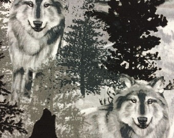 Cotton Black Wolf Pillowcase