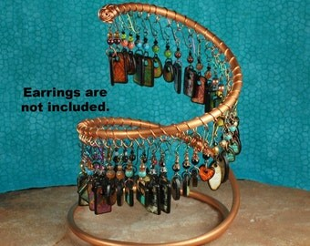 Copper Earring Holder, Earring Display, Jewelry Display JD200 by CC Design