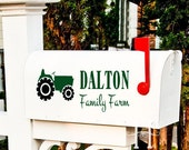 Mailbox Decal Tractor  Family Farm Vinyl decal lettering custom  Farming Family, country decor, rural , Farmers Decor gifts