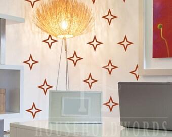 Star Stickers, Star Vinyl Decals, Star decals, Star Wall Decals, Sticker Sets, Bathroom Wall Decor, Ceiling Decals, Office Wall Decor, Cute