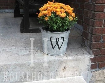 "Monogram Letter Decal, Name Decal, 12"" tall Letter, Custom Wedding Initial Vinyl Decals, Unique Gifts, Front Porch Decor"