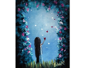 Limited Edition ACEO art print by Erback - How She Says I Love You
