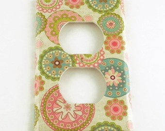 Outlet Switchplate  Light Switch Cover  Switch Plate in Pamela  (235O)