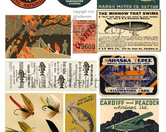 On the Hook Digital Collage Sheet
