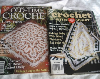 2 Crochet Paperback Magazine Instruction Books