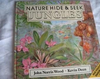 VINTAGE John Wood Nature Hide & Seek Jungle Hard Back Childrens Book