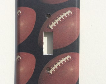 Football sports Switchplate Double Triple Rocker Dimmer Blank Cable Outlet