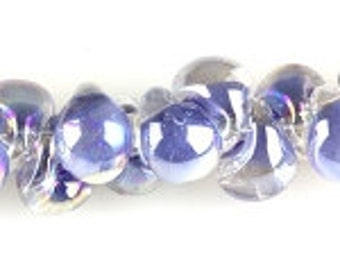 10 HandmadeLuster Blueberrry Teardrop Lampworked Beads - 13mm (22669)