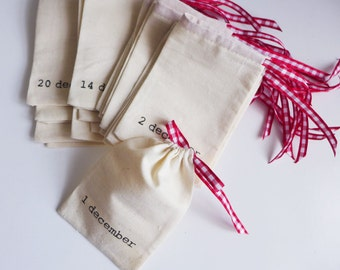 1 set left - Ready to ship - medium advent calendar pouches