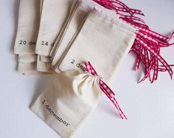 Ready to ship - medium advent calendar pouches