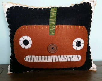 Rusty Pumpkin Pillow
