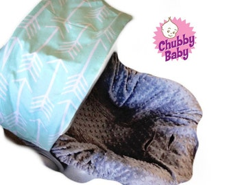 Infant Car Seat Cover, Baby Car Seat Cover in Aztec Tribal Arrow