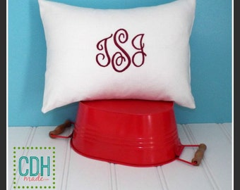 calicodaisy gems - Monogrammed Pillow Cover - Choice of Sizes and Colors